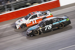 Denny Hamlin, Joe Gibbs Racing Toyota and Martin Truex Jr., Furniture Row Racing Chevrolet