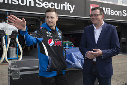 Mark Winterbottom, Prodrive Racing Australia with Victorian Premier Dan Andrews