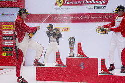 Trofeo Pirelli Am podium: winner #8 Ferrari of Ft. Lauderdale Ferrari 458