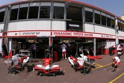 Toyota F1 Team, pit garages