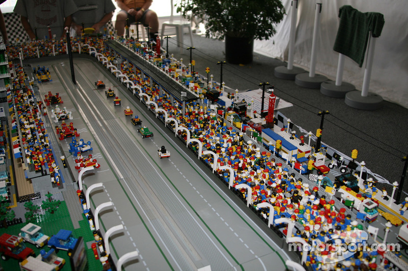 Lego Model Of Indianapolis Speedway At