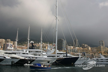 Stormy weather over Monaco