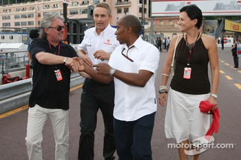 Keke Rosberg, Martin Whitmarsh, McLaren, Chief Executive Officer and Anthony Hamilton, Father of Lewis Hamilton