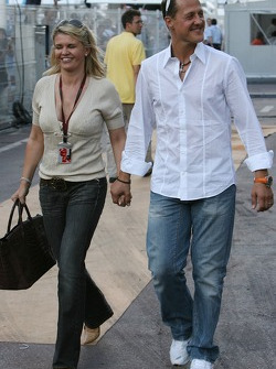 Michael Schumacher, Scuderia Ferrari, Advisor and Corina Schumacher, Corinna, Wife of Michael Schumacher