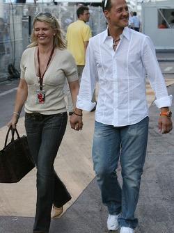 Michael Schumacher, Scuderia Ferrari, Advisor and Corina Schumacher, Corinna, Wife of Michael Schumacher