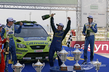 Podium: third place Petter Solberg
