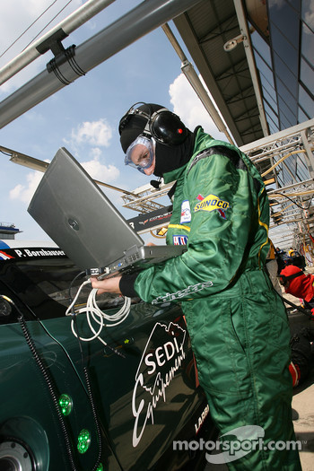 Aston Martin Racing Larbre team member at work