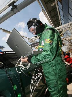 Aston Martin Racing Larbre team member at work