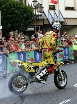 Bike stunt show