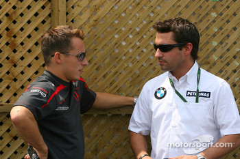 Christian Klien, Test Driver, Honda Racing F1 Team and Timo Glock, Test Driver, BMW Sauber F1 Team