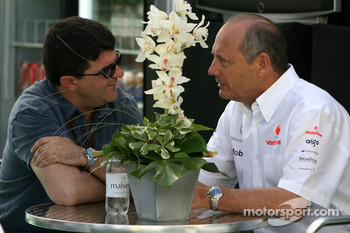 Luis Garcia Abad, Manager of Fernando Alonso and Ron Dennis, McLaren, Team Principal, Chairman