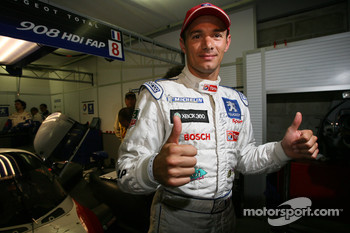Pole winner Stéphane Sarrazin celebrates