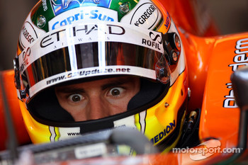 Adrian Sutil, Spyker F1 Team, Pitlane, Box, Garage