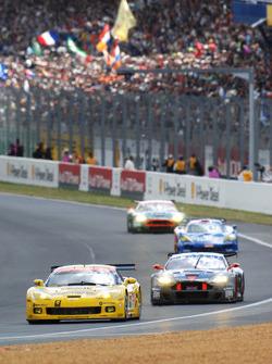 #63 Corvette Racing Corvette C6.R: Johnny O'Connell, Jan Magnussen, Ron Fellows, #64 Corvette Racing Corvette C6.R: Oliver Gavin, Olivier Beretta, Max Papis