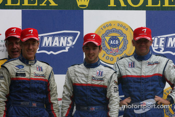 LMP2 podium: class winners William Binnie, Allen Timpany, Chris Buncombe
