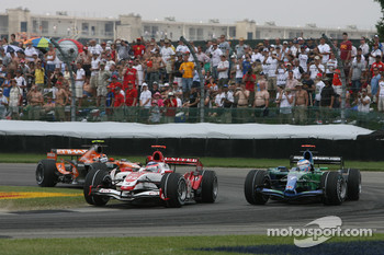 Takuma Sato, Super Aguri F1, Jenson Button, Honda Racing F1 Team, RA107, Christijan Albers, Spyker F1 Team