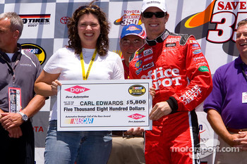 Carl Edwards gets a big check