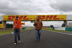Christijan Albers, Spyker F1 Team and Colin Kolles, Spyker F1 Team, Team Principal