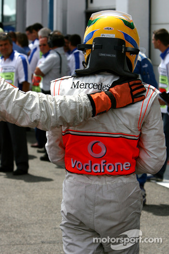 2nd, Lewis Hamilton, McLaren Mercedes, MP4-22