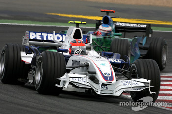 Robert Kubica,  BMW Sauber F1 Team , Jenson Button, Honda Racing F1 Team
