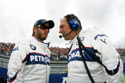 Nick Heidfeld, BMW Sauber F1 Team, Willy Rampf, BMW-Sauber, Technical Director