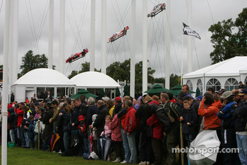 Crowds wait in anticipation for Lewis Hamilton