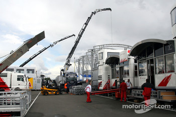 The Paddock being put together