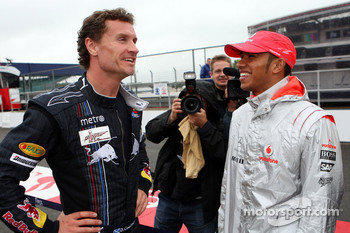 David Coulthard, Red Bull Racing and Lewis Hamilton, McLaren Mercedes