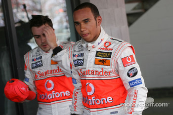 Pole Position, 1st, Lewis Hamilton, McLaren Mercedes, MP4-22 and 3rd, Fernando Alonso, McLaren Mercedes, MP4-22