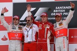 Winner, 1st, Kimi Raikkonen, Scuderia Ferrari, F2007, 2nd, Fernando Alonso, McLaren Mercedes, MP4-22, 3rd, Lewis Hamilton, McLaren Mercedes, MP4-22