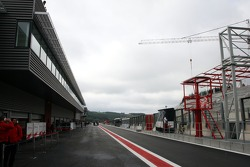 New pitlane building with the garages in