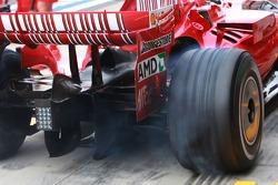 Wheel spin, car of Felipe Massa, Scuderia Ferrari