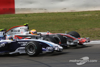 Lewis Hamilton, McLaren Mercedes and Alexander Wurz, Williams F1 Team