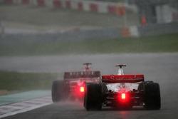 Fernando Alonso, McLaren Mercedes, MP4-22 in pursuit of Felipe Massa, Scuderia Ferrari, F2007