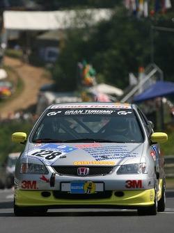 #128 MSC Mühlheim Honda Civic Type-R: Roland Lotzmann, Denis Cribbin, Paul Jenkins