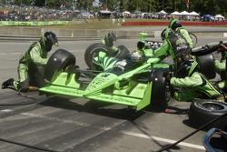 Scott Sharp pit stop new tires on