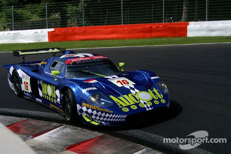#16 JMB Racing Maserati MC 12 GT1: Ben Aucott, Philipp Peter, Marino Franchitti, Joe Macari
