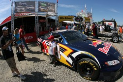 Fans check out the Red Bull Toyota