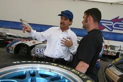 Kevin Buckler talks with TRG team member