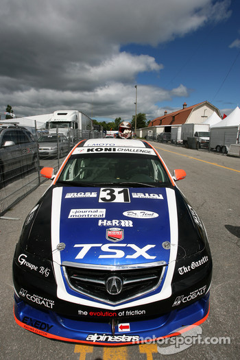 The pole winner #31 i-MOTO Racing Acura TSX