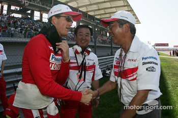 Ralf Schumacher, Toyota Racing with Katsuhiro Nakagawa, Vice Chairman of the Board of Toyota Motor Corporation
