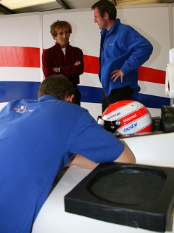 Nicolas Prost, driver of A1 Team France and Alain Prost