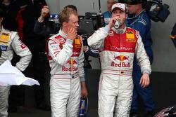 Race winner Martin Tomczyk and third place Mattias Ekström