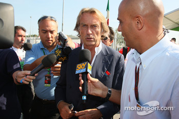 Luca di Montezemolo, Scuderia Ferrari, FIAT Chairman and President of Ferrari arrives at the track
