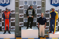 Podium: race winner Kerry Micks with Andrew Ranger and Robin Buck