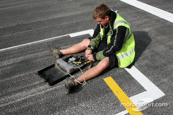 Sensors are put on the starting grid