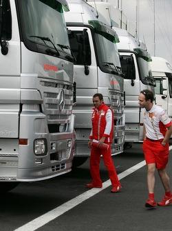 Stefano Domenicali, Scuderia Ferrari, Sporting Director at McLaren Mercedes with a document