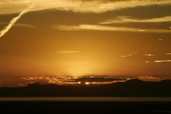 Sunset on the Great Salt Lake