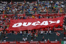 Motegi fans celebrate Ducati's win and world championship