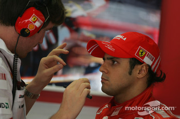 Rob Smedly,, Scuderia Ferrari, Track Engineer of Felipe Massa and Felipe Massa, Scuderia Ferrari